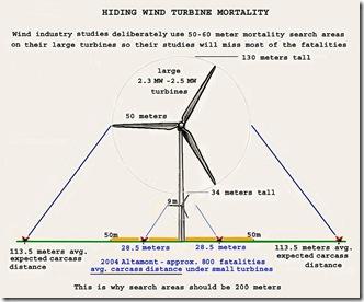 Wind Turbine raptor mortality distances