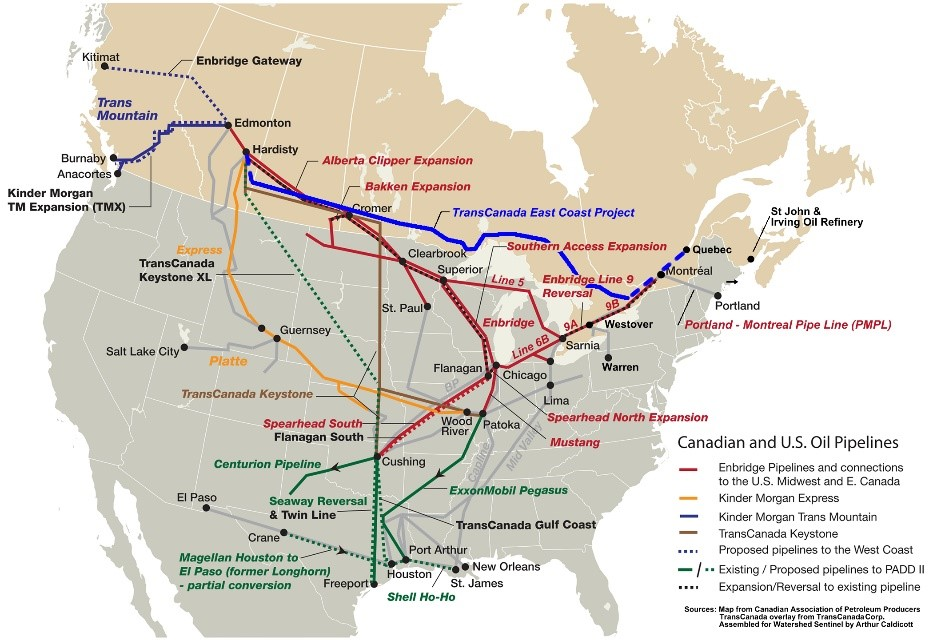 Canada More Pipeline Export Capacity Needed Master Resource - Map of northeastern us and canada